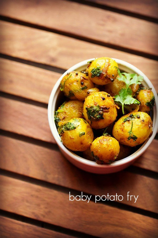 baby potato fry recipe – how to make small potato fry recipe