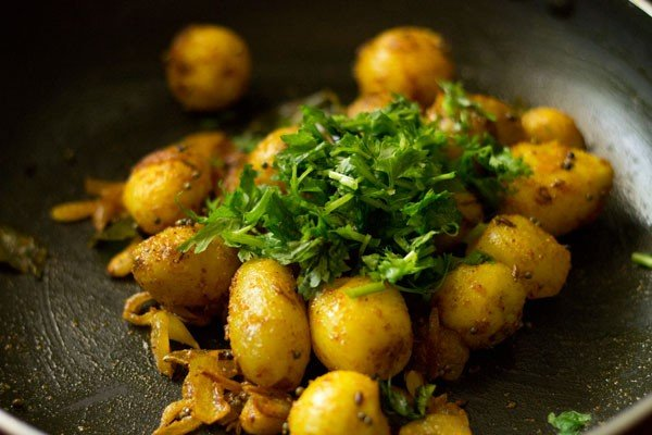 coriander for baby potato fry recipe