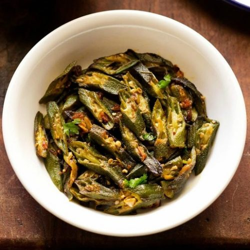bhindi fry recipe, bhindi sabzi recipe