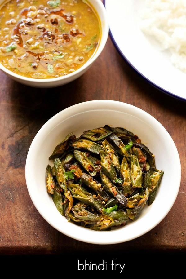 bhindi fry recipe, how to make punjabi bhindi fry recipe