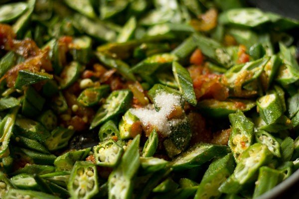 salt for bhindi fry recipe