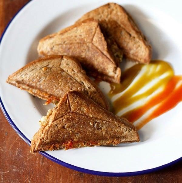 capsicum sandwich recipe