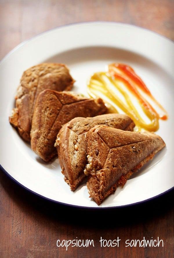 capsicum toast sandwich
