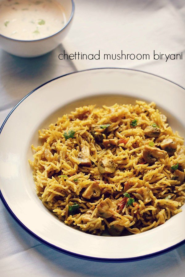 Chettinad mushroom biryani recipe chettinad veg biryani recipe forumfinder Image collections