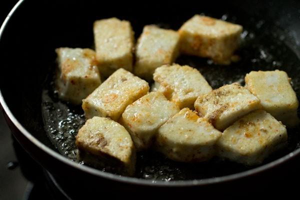frying paneer for chili paneer dry recipe