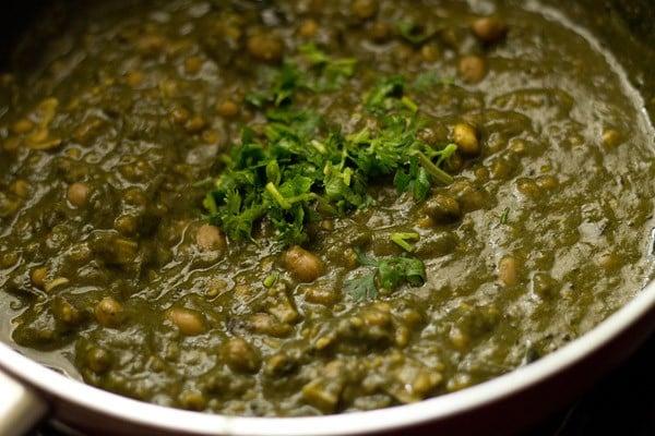 making colocasia bhaji recipe