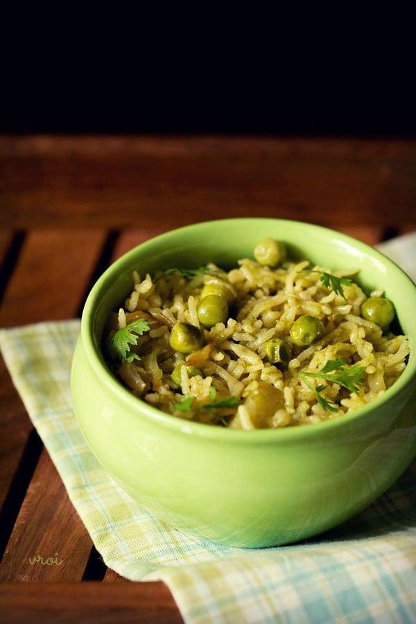 coriander rice coriander pulao