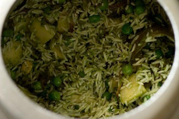 making coriander rice recipe
