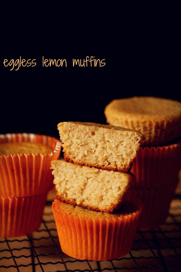 lemon muffins, eggless lemon muffins