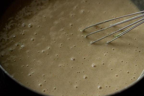making lemon muffins batter