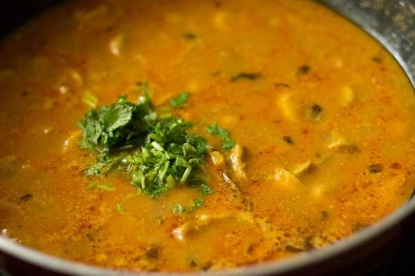 coriander for mushroom masala recipe