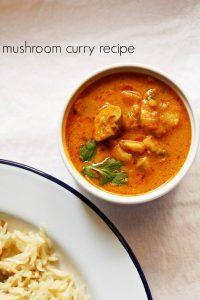 mushroom masala recipe | mushroom curry recipe