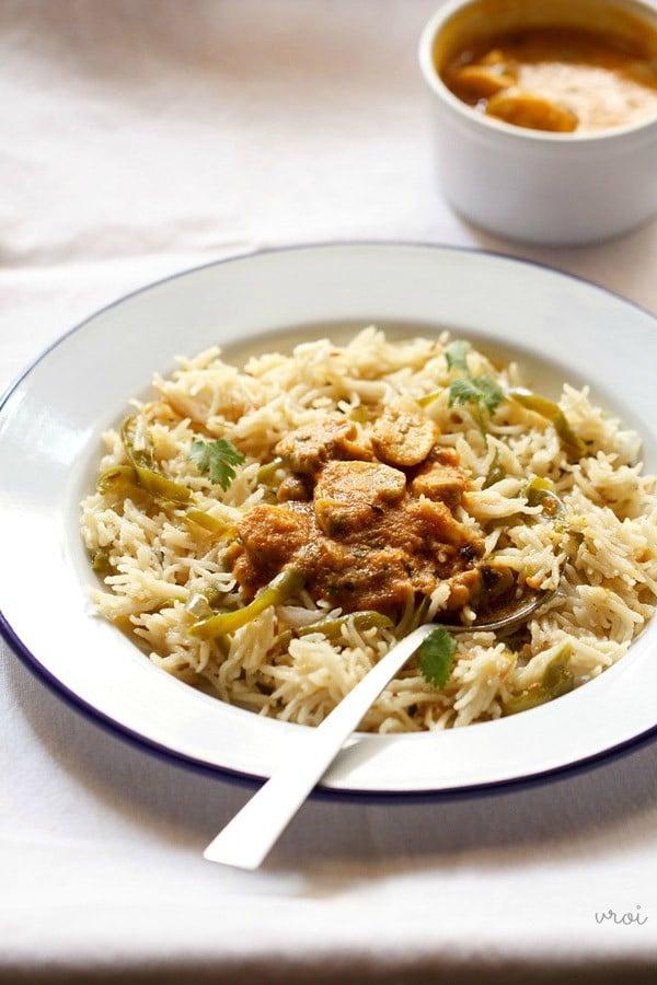 mushroom curry recipe, mushroom masala recipe