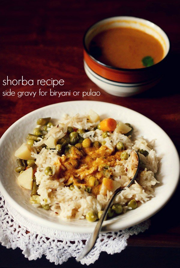 shorba recipe for veg biryani | side gravy recipe for veg biryani and pulao