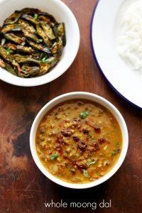 green moong dal recipe | green gram curry recipe | sabut moong dal recipe