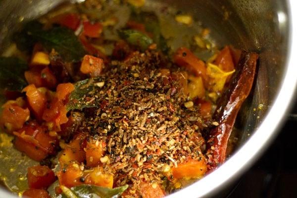 add rasam spice mix