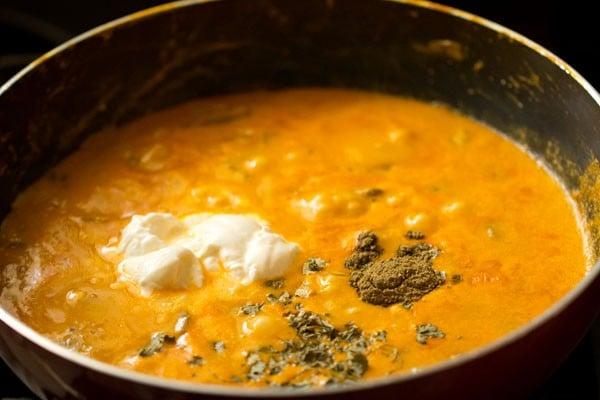 cream for mushroom butter masala recipe