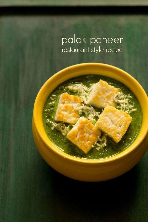 palak paneer restaurant style recipe