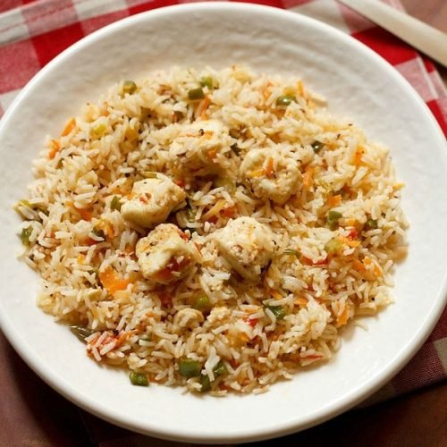 Paneer fried rice recipe how to make paneer fried rice recipe paneer fried rice recipe ccuart Image collections