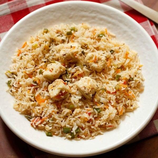 Paneer fried rice recipe how to make paneer fried rice recipe ccuart Choice Image