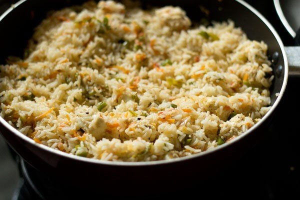 making paneer fried rice recipe