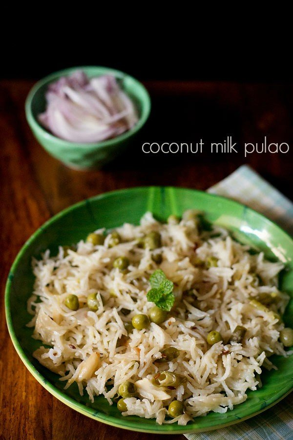 coconut milk pulao, coconut milk rice