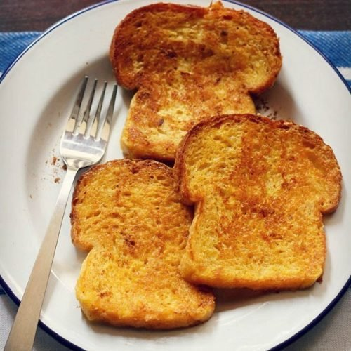 Eggless French Toast Recipe, How To Make French Toast