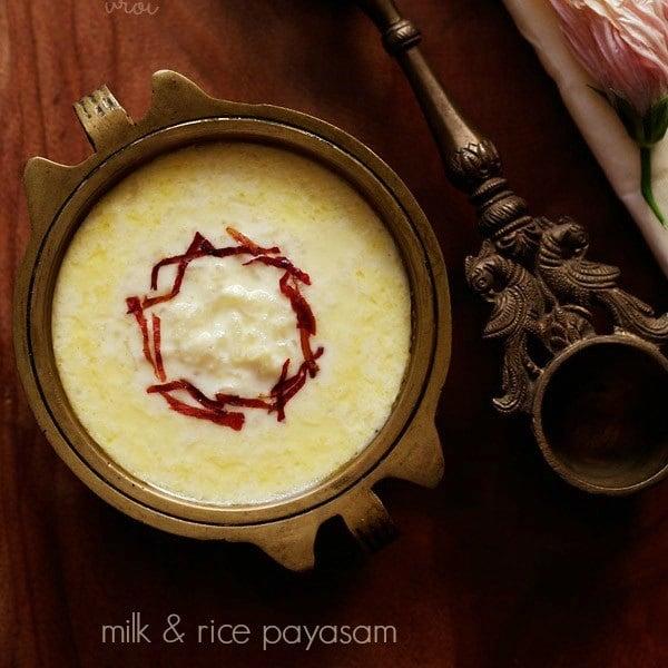 paal payasam recipe, rice payasam recipe