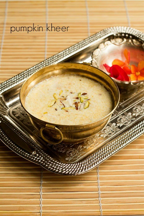 pumpkin kheer recipe kaddu ki kheer pumpkin payasam recipe