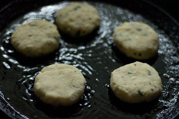 frying - kachche kele ke kofte recipe