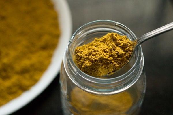 sambar powder, sambar podi, sambar masala, homemade sambar powder recipe