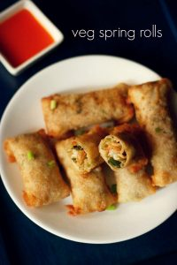 spring roll recipe, how to make spring rolls | veg spring roll recipe