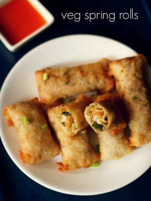 spring rolls recipe, how to make spring rolls | veg spring roll