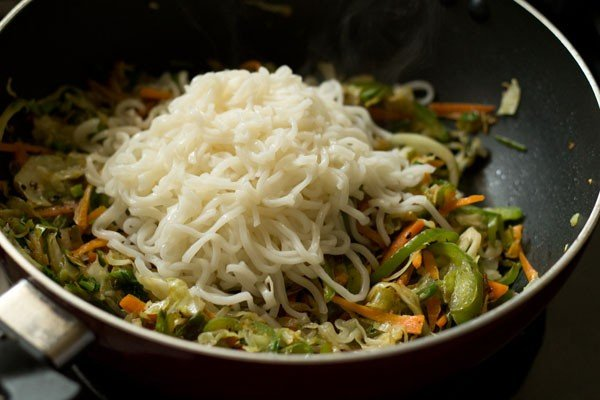 noodles for veg spring rolls recipe