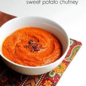 sweet potato chutney recipe how to make south indian sweet potato chutney recipe