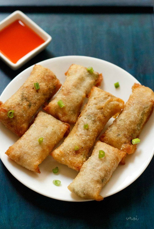 Spring roll recipe how to make veg spring roll recipe vegetable veg spring rolls recipe forumfinder Choice Image