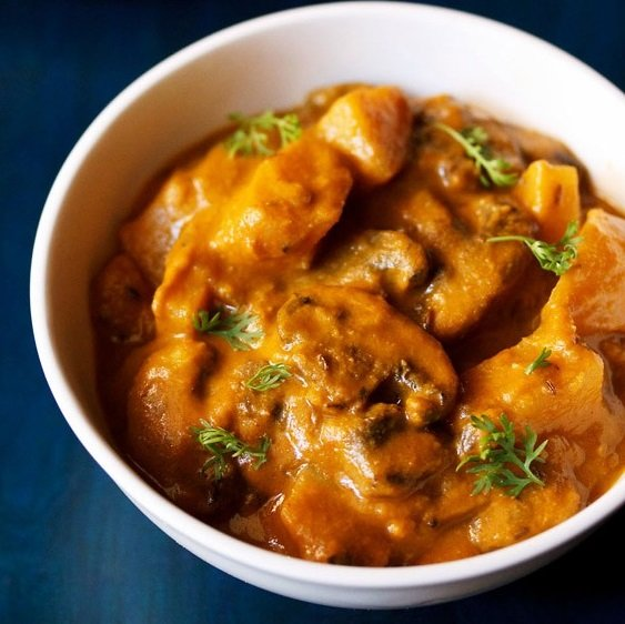 aloo mushroom recipe, potato mushroom recipe