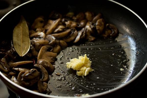 ginger for aloo mushroom recipe