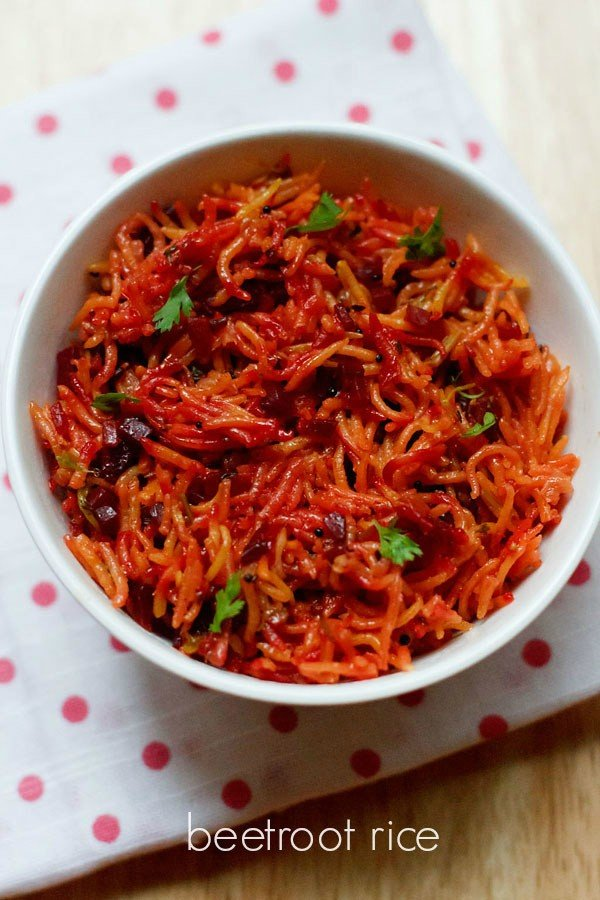 beetroot rice recipe, how to make beetroot pulao recipe ...