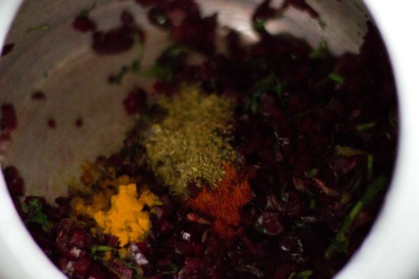 spices for beetroot rice recipe