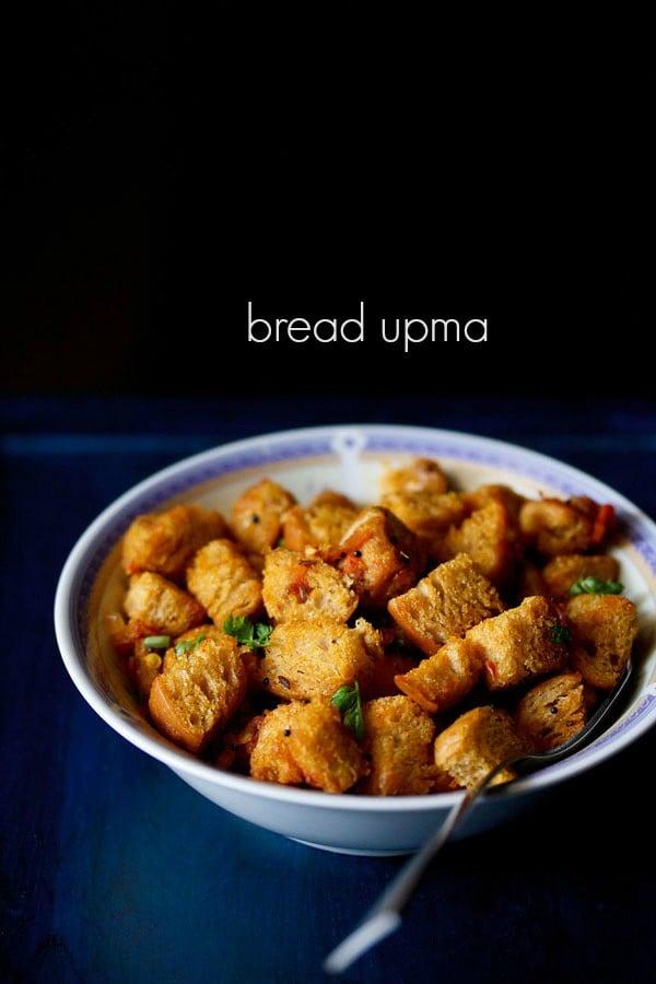 bread upma recipe, how to make bread upma recipe
