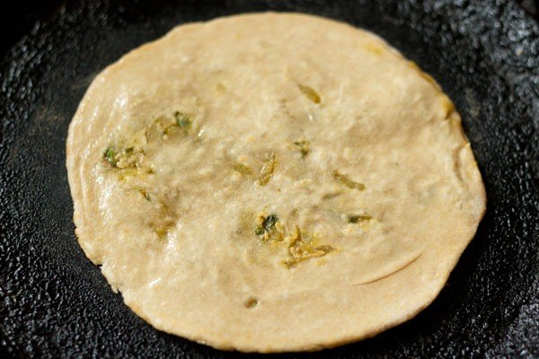 frying cabbage paratha recipe