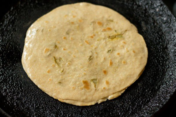 frying cabbage paratha recipe