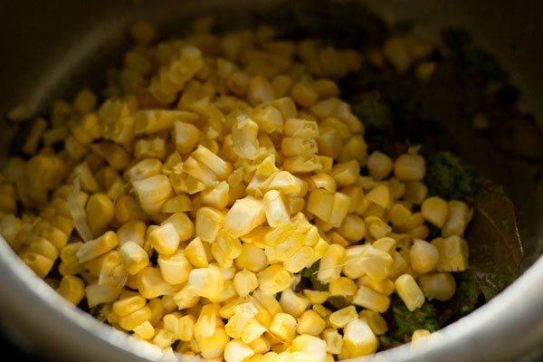 corn for corn pulao recipe