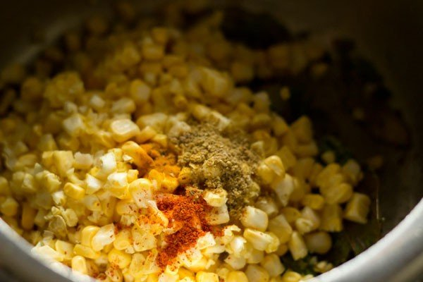 spices for corn pulao recipe