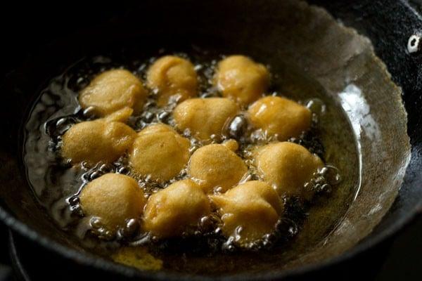 frying - dahi bhalla recipe