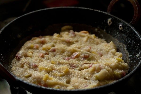 making fruit kesari recipe