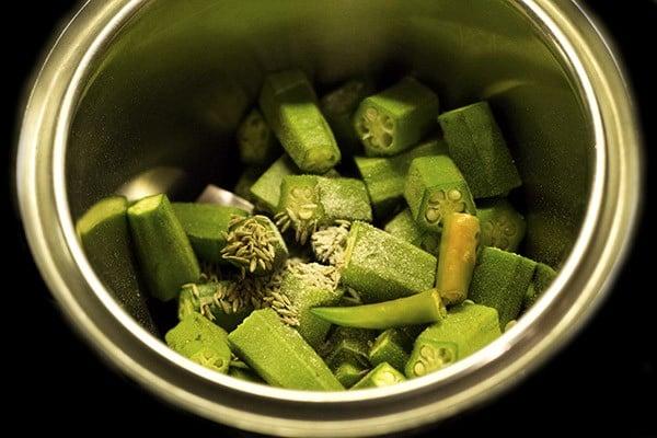 making batter for okra idli recipe