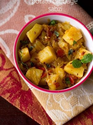 potato cabbage sabzi