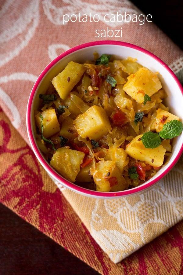 potato cabbage sabzi